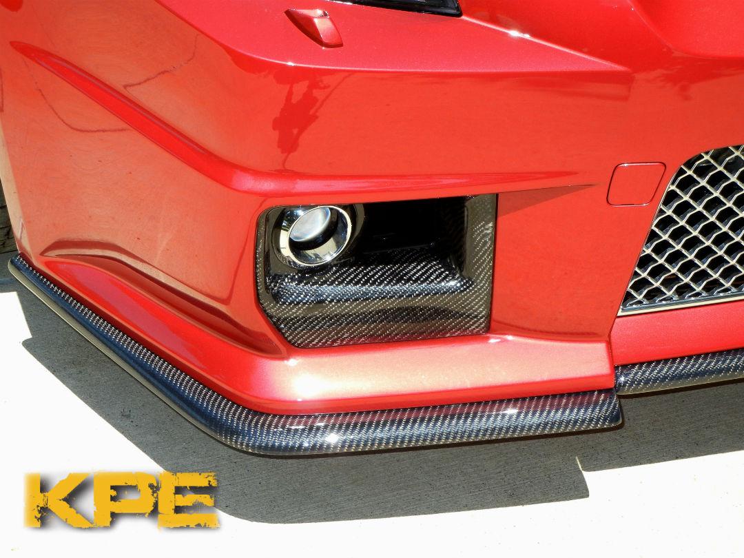 Cts V Carbon Fiber Front Splitter Korkar Performance