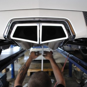 V Coupe Cat-back Exhaust System - Angle Tips 1
