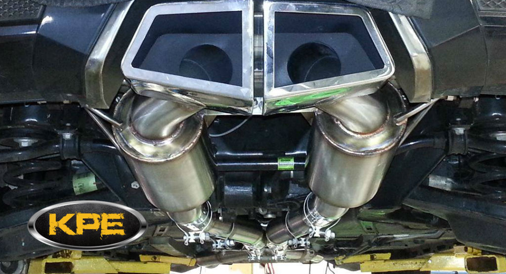 Cts V Coupe Loudmouth Axle Back Exhaust System Korkar